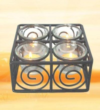 candle holders-glass candle holder