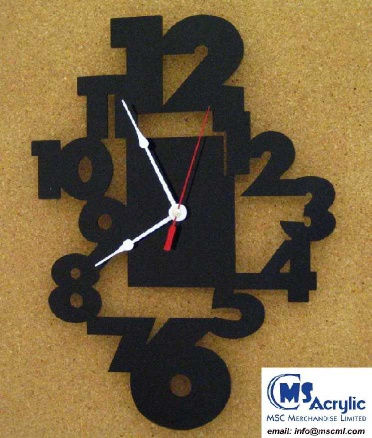 Digit Wall Clock, (M692) - M692