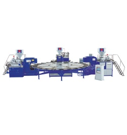 Rotary Two Color Plastic Sole Injection Moulding Machine - HM-108-3C
