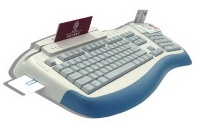 Keyboard with Smart Card Reader - SUZK1420