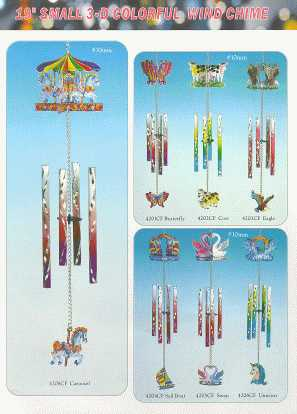 19 Small 3 - D Colorful Wind Chime - P29