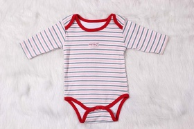 100% Cotton Long Sleeve Baby Bodysuit