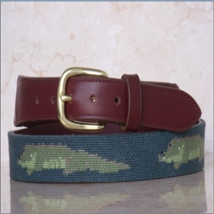Fashional Needlepoint Belts Handmade Genuine Leather Belt - NB0001
