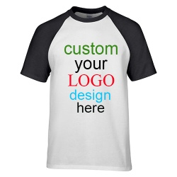 Create your own cotton raglan contrast sleeve t-shirts with custom printing - LBPT027