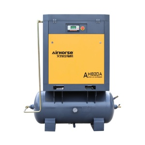 Screw air compressor with air receiver. - AH-20