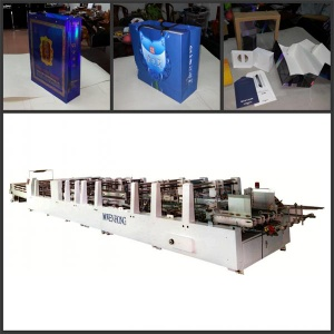 automatic paper hand bag machine with auto insert-paste bottom card - WH-1200