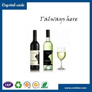 Chinese best price wine bottles label size,metal wine label,wine bottle label - label