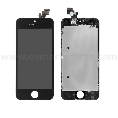 For Apple iPhone 5 LCD Screen and Digitizer Assembly with Frame Replacement - Black - Grade S - iphone 5 lcd screen