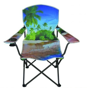 fishing chair with armrests with cup holder comfortable portable folding for beach outdoor camping - FE-011