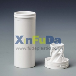 plastic effervescent tablet tube with spring cap - 007