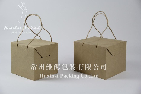 Box Style Creative Paper Bag with Handles - Box Style Creative