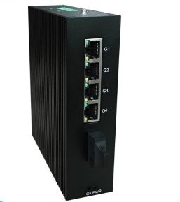 Full Gigabit Unmanaged Industrial Ethernet Switch with 1×1000BaseX port - i505B