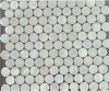 round mother of pearl mosaic tile shell salb - MOP5