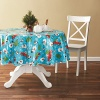 Tablecloth PE with Needle-punched Cotton Snowman Round - Tablecloth PVC