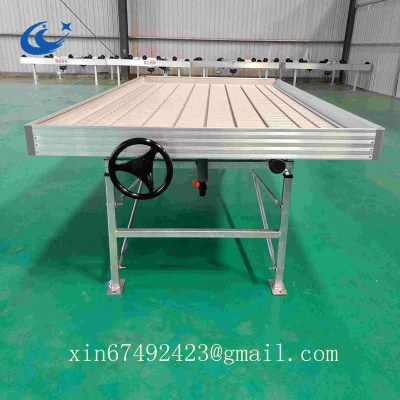 Greenhouse rolling bench/ebb and flow bench/ movable seedbed for planting - CC-0112