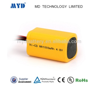 Ni-CD 4.8v 1000mah High performance NiMH 4.8 Volt 1000 mAh NiCd battery pack rechargeable - 15