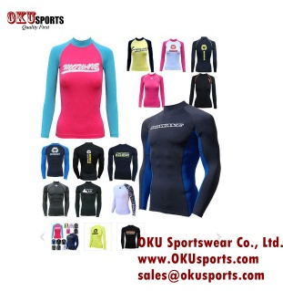 Customized Design Long Sleeve/Short Sleeve Rash Guard/Rashguards