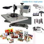 8 in 1 Combo Swing Transfer Heat Press Machine - combo heat press