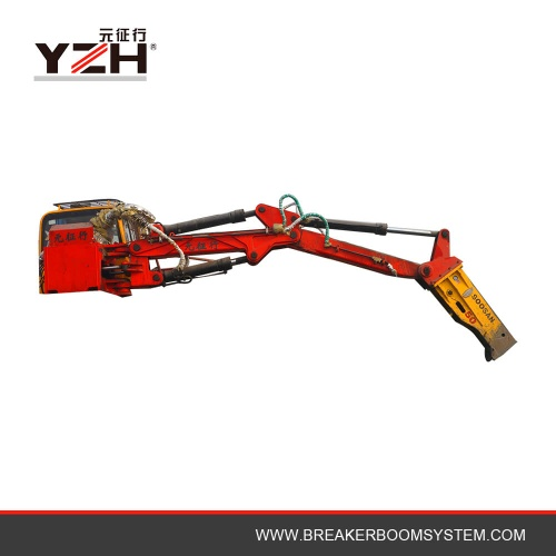 Hydraulic Type Stationary Rock Breaker Boom System For Jaw Crusher - YZH