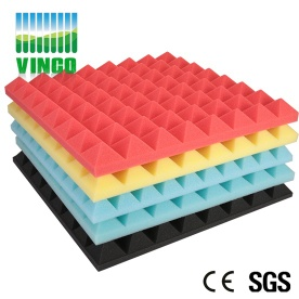 Acoustic Panels Type and Acoustic noise insulation cancelling Pyramid Foam Panels impregnated pu noise reduction foam - V-120