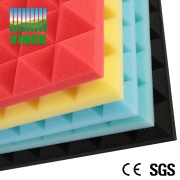 Music room noise reduction foam good price recording studio soundproofing polyurethane acoustic Pyramid foam - V-130