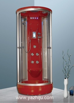 Environmental protection steam engine system shower room with big top sprinkler - D6