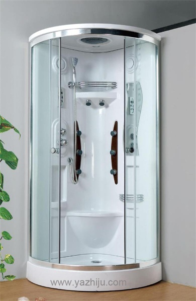 Environmental protection steam engine system shower room with big top sprinkler - C1