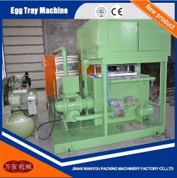 2 Molds Paper Pulp Egg Tray Making Machine with Output of 700pcs/hour For Sale - 002