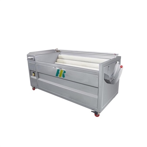 Brush washing potatoes peeling machine / Roots vegetable brush washing and peeling machine - GM21