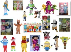 Cartoon costume,shrek monster character,disney character,plush dress costume,animal costumes,disneyworld character - W001