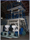 Two layer co-extrusion HDPE+LDPE film blown machine(filmwidth:1000mm) - DW-BFM-A+B