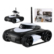 Wi-Fi Controlled 4-Channel RC Tank with Camera (White) - YE0406W