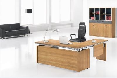 Dious fashion partical board melamine finish office table computer desk boss desk - JD0518