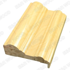 Priming coated wooden door frame with finger jionted board - ER-04