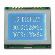 128 x 64mm COB Graphics LCD Module with STN-blue/Negative/Transmissive Display Modes and Metal Frame - TSM12864D-1