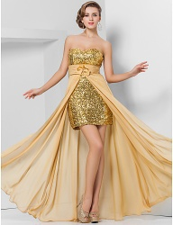 Sheath/Column Sweetheart Floor-length Chiffon And Sequined sequin dresses plus size - 00403279