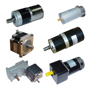 permanent magnet DC motors, PMDC motors with gear boxes, AC and AC gear motors, synchronous - MOTOR