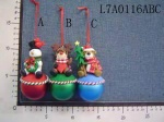 christmas dolls with balls - L7A0116A/B/C