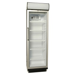 Vertical refrigerator of a bottle with a curve glass door and a canopy - 3710040