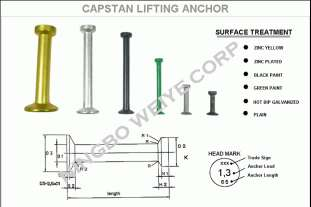 Capstan lifting Anchor - Capstan lifting Anchor