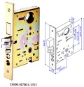 UL fire rated mortise lock - BA-6401