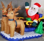 SANTA WITH DRAWING DEER - CN505X