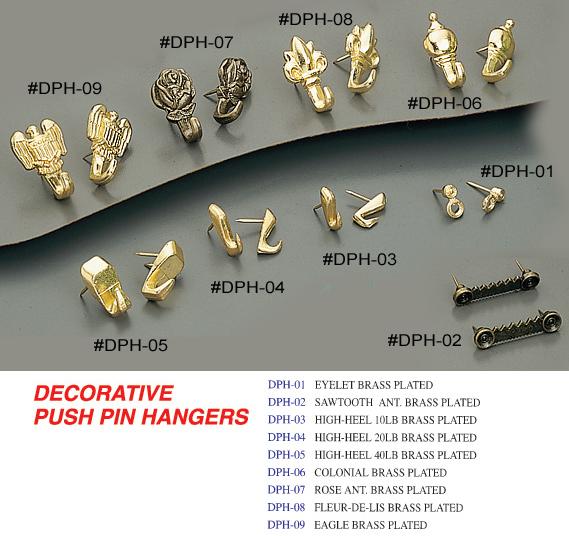 decorative push pin hangers 24 u can do hardware corporation - Decorative Picture Hangers