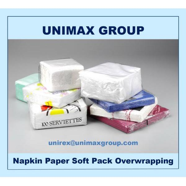 Fully Automatic Tissue Paper Napkin / Serviette Soft Pack Over-wrapping Machine